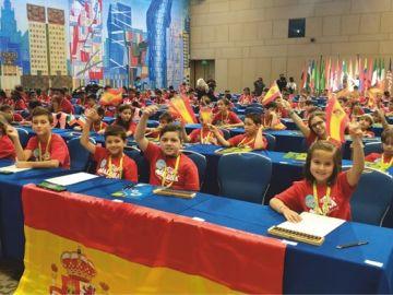 Niños españoles en el Campeonato Mundial de Cálculo Mental en Rusia