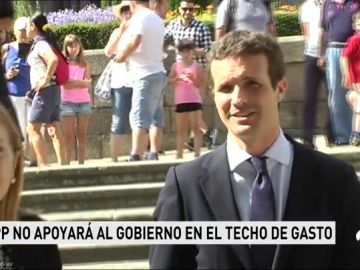 Casado avanza que el PP no apoyará el techo de gasto propuesto por el Gobierno de Sánchez