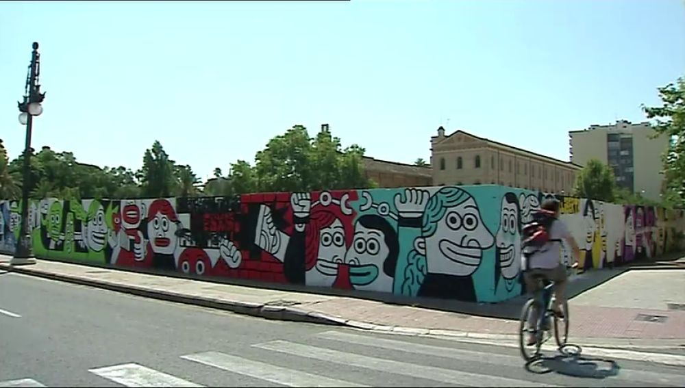 El ayuntamiento de Valencia permite un mural en solidaridad con los agresores de los guardias civiles en Alsasua