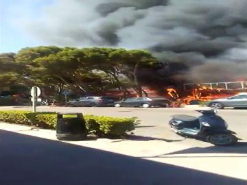 Un incendio destruye un restaurante en Mallorca