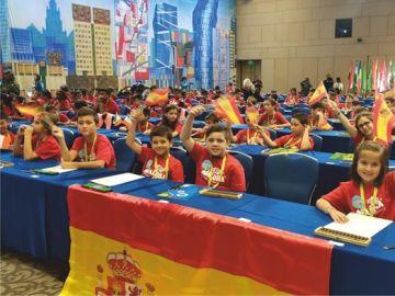 Niños españoles en el campeonato del mundo de cálculo mental en Rusia