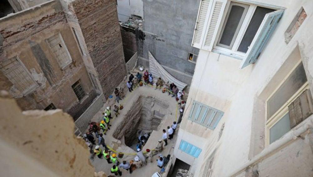 Sarcófago descubierto en Egipto