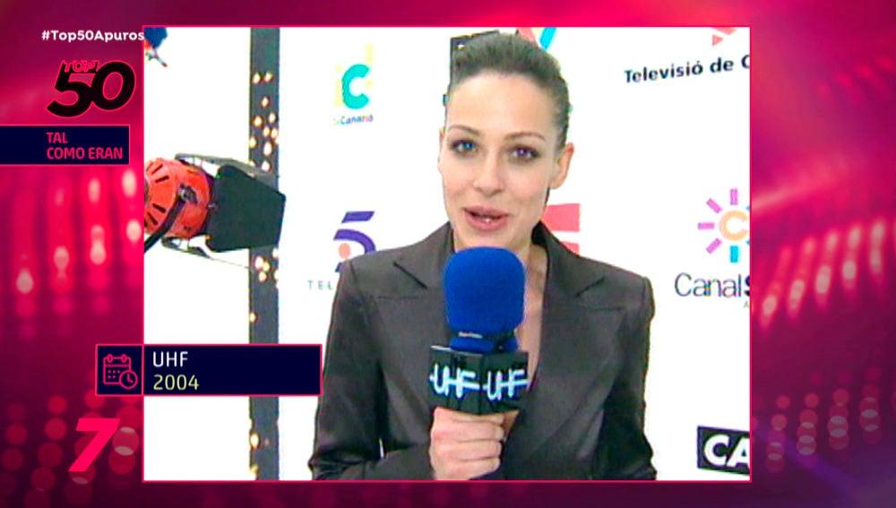 Eva González como reportera en Antena 3