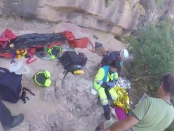 Complicado rescate de una escaladora en el monte de Patones en Madrid