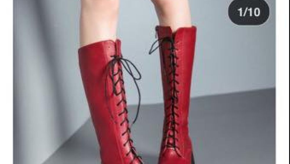 Anuncio de botas rojas