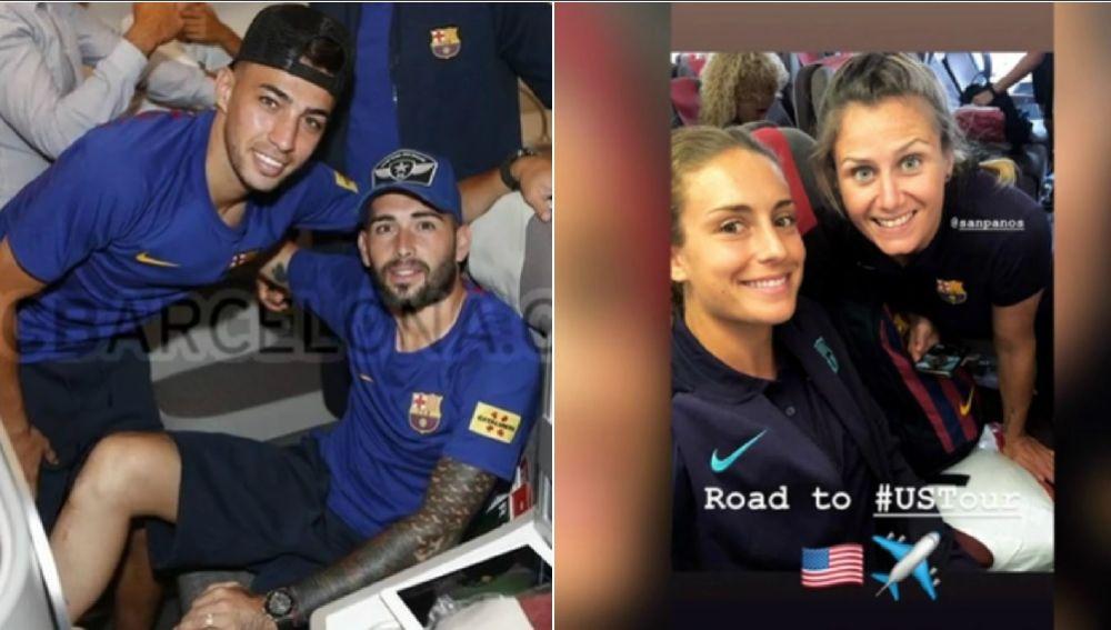 El avión del viaje del Barcelona con su equipo masculino y femenino