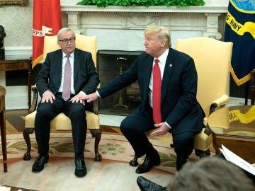 Jean Claude Juncker y Donald Trump