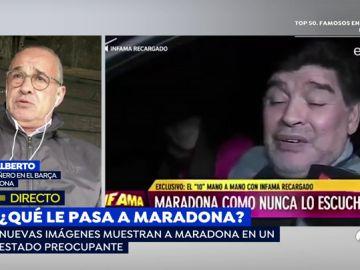 """Julio Alberto sobre las preocupantes imágenes de Maradona: """"A su entorno le interesa que él esté así"""""""