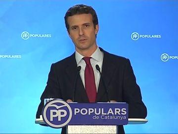 """Casado propondrá un proyecto de ley para incluir en el Código Penal la """"sedición impropia y el delito por convocatoria ilegal de referéndum"""""""