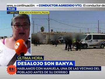 """Manuela, vecina de Son Banya: """"El ayuntamiento está haciendo política, ningún vecino se ha quejado de la inseguridad ciudadana"""""""