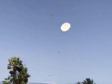 Las fuertes rachas de viento provocan el pánico en el Parque marítimo de Tenerife