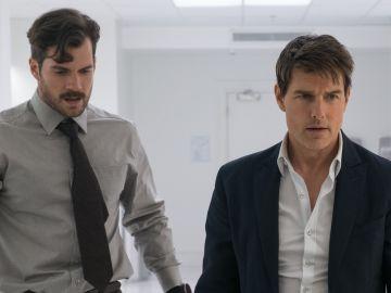Henry Cavill y Tom Cruise en 'Misión: Imposible - Fallout'
