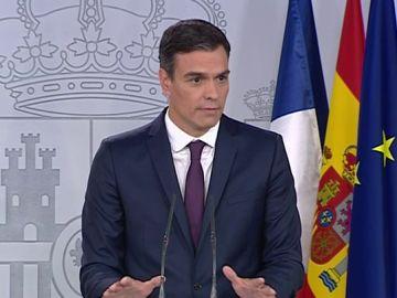 Pedro Sánchez durante su intervención.
