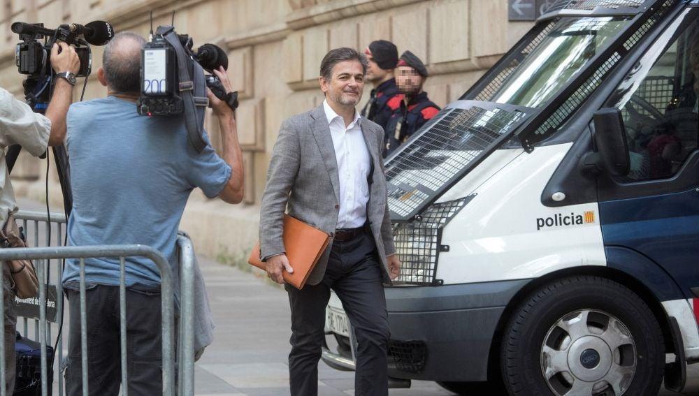 El exdirigente de CDC Oriol Pujol, a su llegada el pasado martes a la Audiencia de Barcelona.