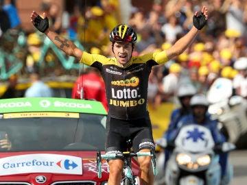 Roglic celebra su triunfo en el Tour