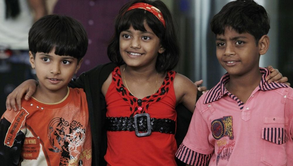 Los niños de 'Slumdog Millionaire'