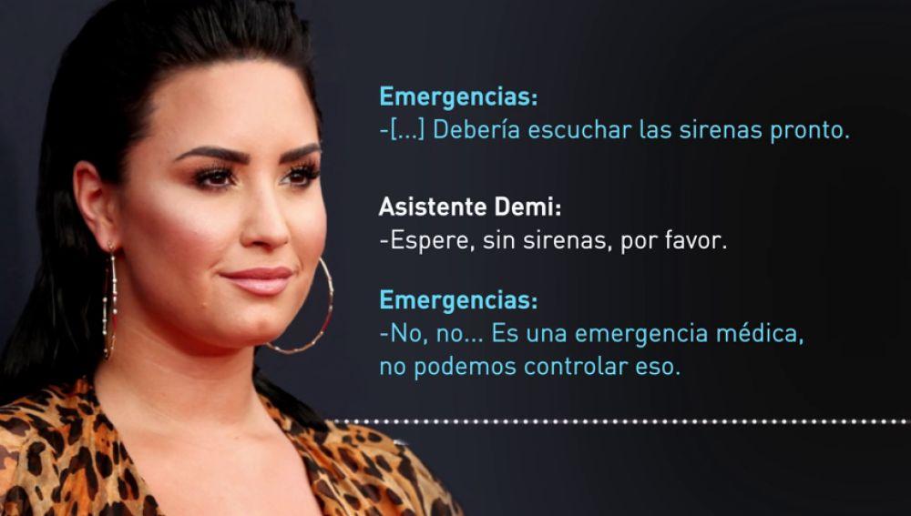 La llamada a emergencias desde la casa de Demi Lovato
