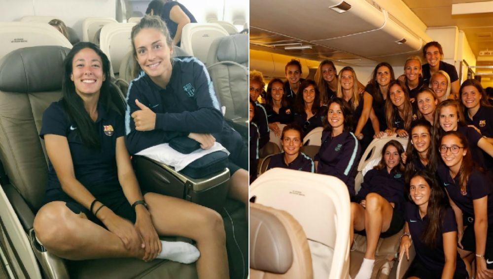 El equipo femenino del Barcelona viaja en business a Los Ángeles