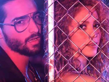 Shakira y Maluma en 'Clandestino'