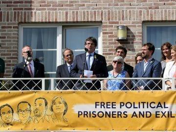 Carles Puigdemont vuelve a Waterloo