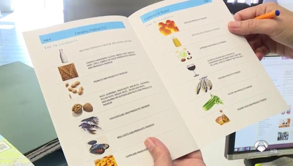 Madrid reparte tarjetas a los turistas con las que informar sobre sus intolerancias alimentarias
