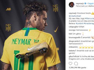 Una publicación de Neymar en Instagram