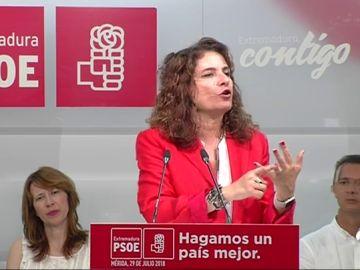 """María Jesús Montero acusa a Pablo Casado de falta de """"sentido de Estado"""" por rechazar el techo de gasto"""