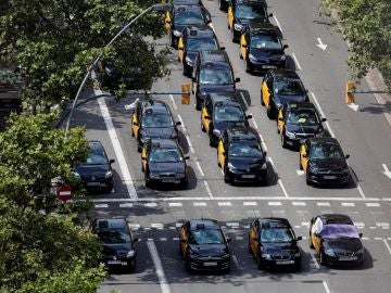 Taxis parados en Barcelona