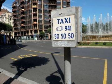 Una parada de taxis