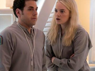 Jonah Hill y Emma Stone en 'Maniac'