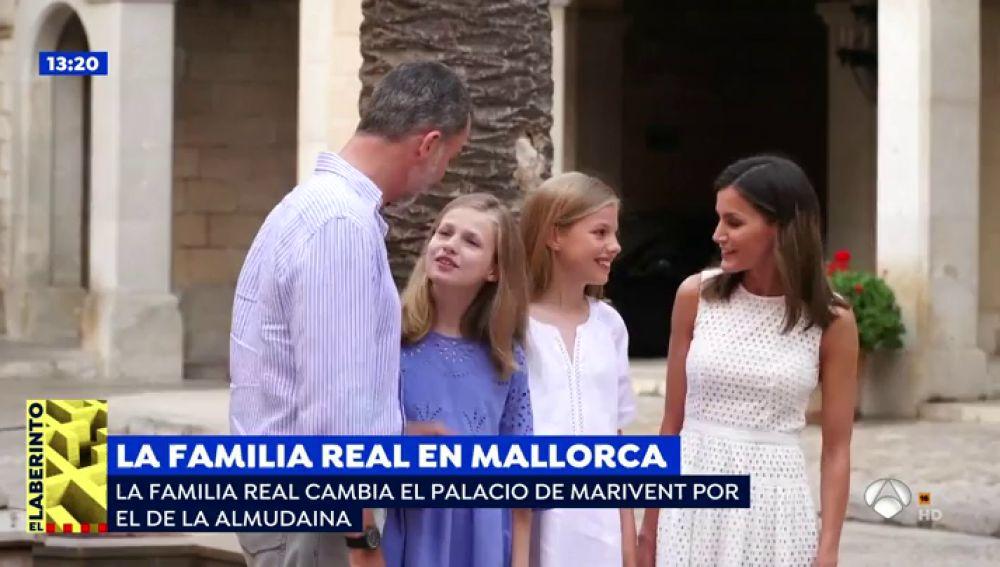 Las infantas contestan por primera vez a la prensa en su visita a Palma de Mallorca