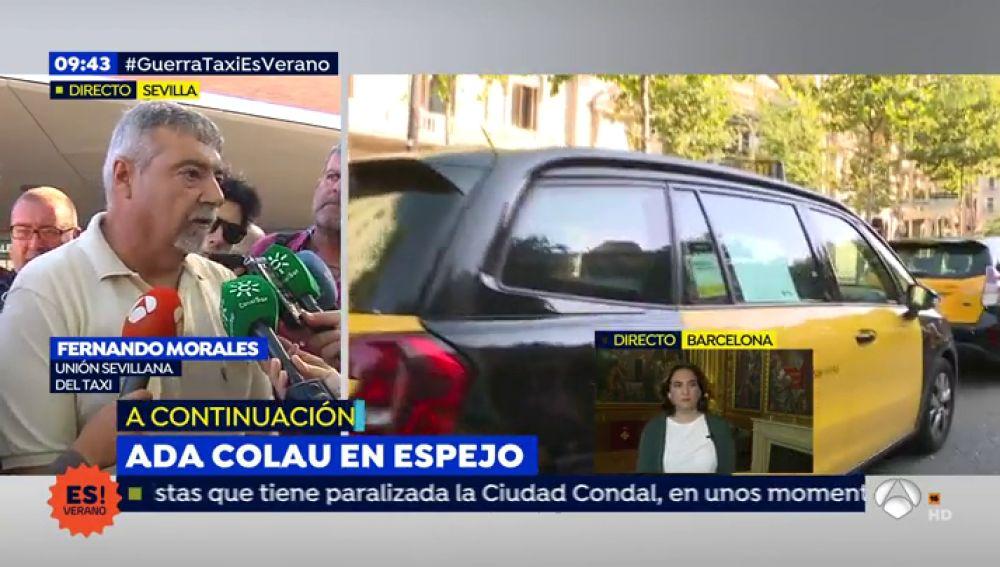 """Los taxistas de Sevilla siguen en pie de guerra: """"Esto es un alzamiento de taxistas no de asociaciones"""""""