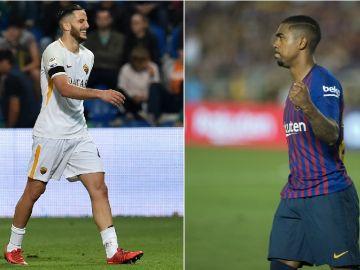 Manolas y Malcom, jugadores de Roma y Barcelona