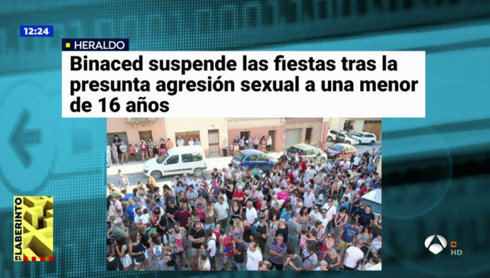 Binaced, Huesca, suspende las fiestas tras la denuncia de agresión sexual a una menor de 16 años