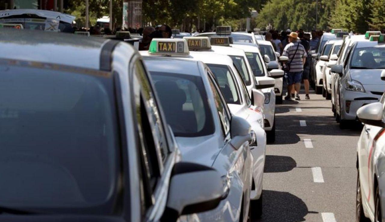 Manifestación taxistas Madrid