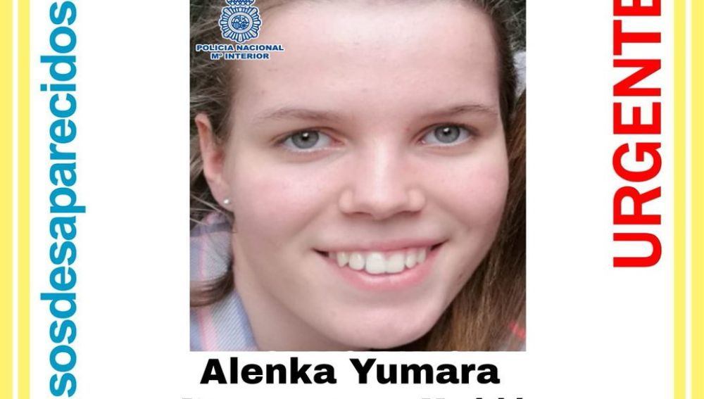 Imagen de la adolescente desaparecida en Madrid