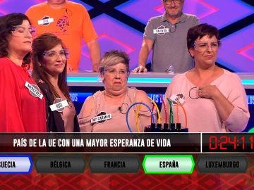 El equipo de 'Las Indias' reduce la esperanza de vida de España con esta pregunta de '¡Boom!'