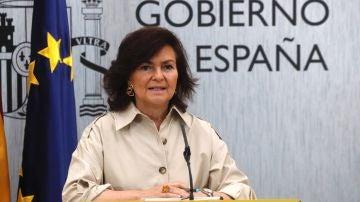 La vicepresidenta del Gobierno, Carmen Calvo