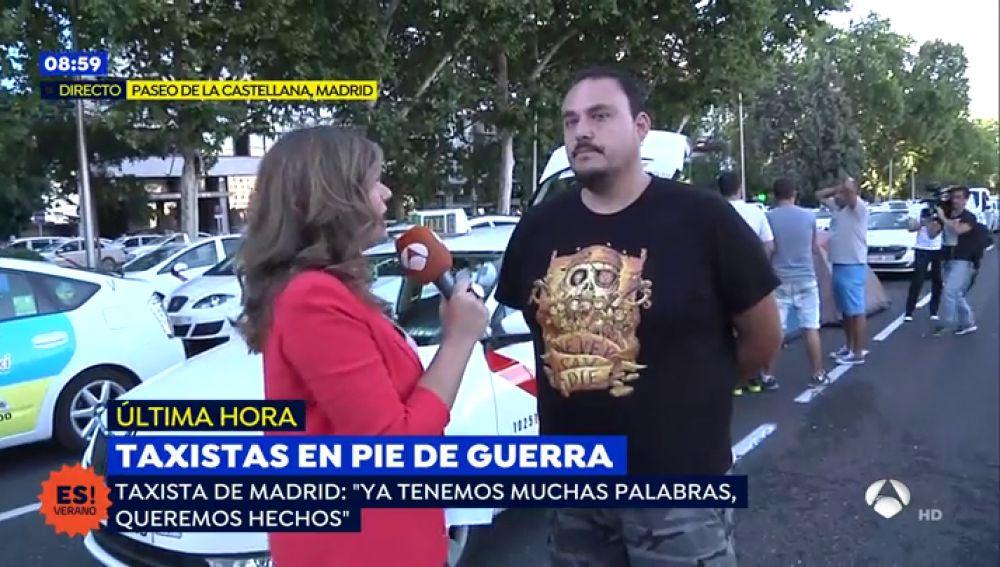"""Taxista de Madrid: """"El único partido político que se ha posicionado con nosotros es Podemos"""""""