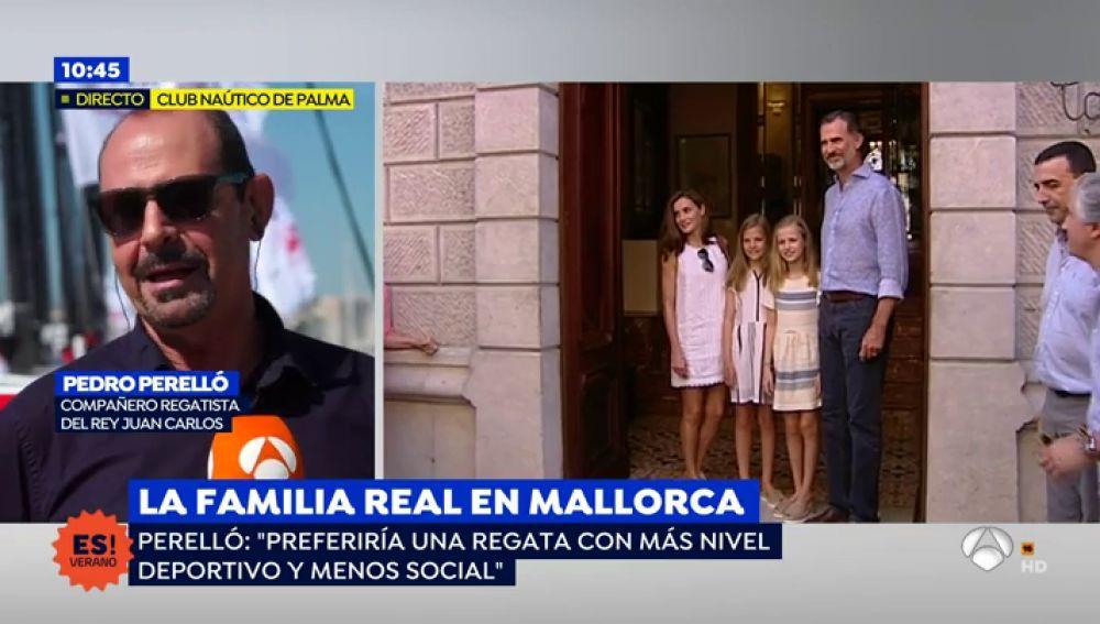 """Perelló, compañero regatista del rey emérito: """"Echamos de menos a Don Juan Carlos en las regatas"""""""
