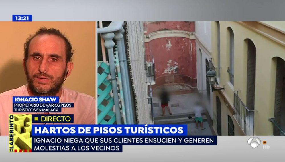 """Ignacio Shaw, propietario de varios pisos turísticos en Málaga: """"Estoy de acuerdo con las personas que han denunciado este comportamiento incívico"""