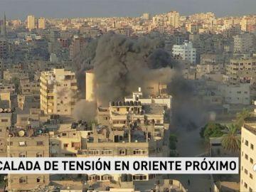 Escalada de tensión en Oriente Próximo: 18 palestinos heridos en Gaza en un ataque israelí a un edificio de cinco plantas
