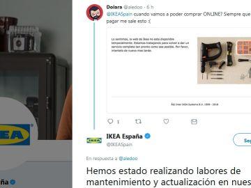 Respuesta de Ikea en Twitter