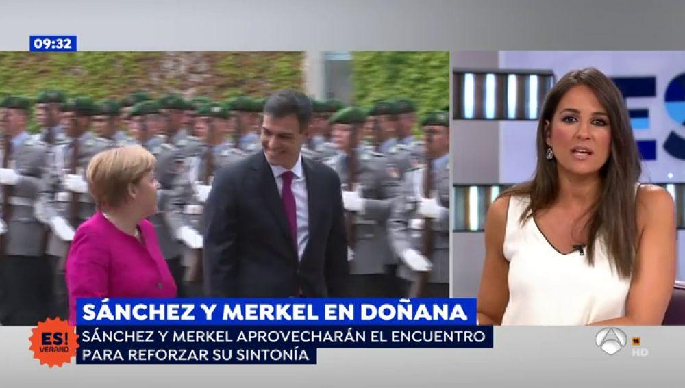 Sánchez recibe a Merkel en Doñana para celebrar las buenas sinergias entre ambos países