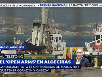 """José Ignacio Landaluce, alcalde de Algeciras: """"Esto es un problema de todos, hay que tener corazón y cabeza"""""""