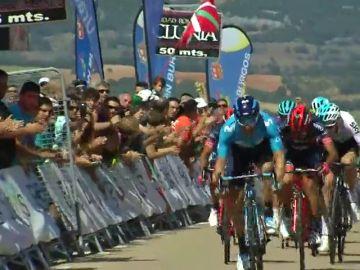 Barbero vuelve a reinar en Clunia y López es más líder de la Vuelta a Burgos