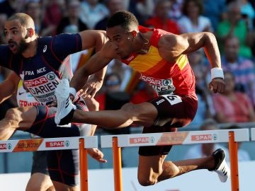 Orlando Ortega, en la prueba de los Europeos de atletismo