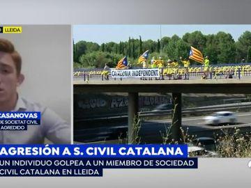 """Secretario territorial de Sociedad Civil Catalana agredido en Lleida: """"Esto no nos va a acobardar ni nos va a silenciar"""""""
