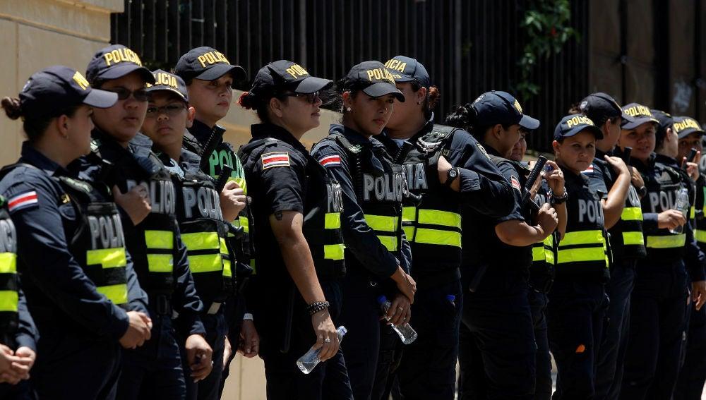 Agentes de policía en Costa Rica