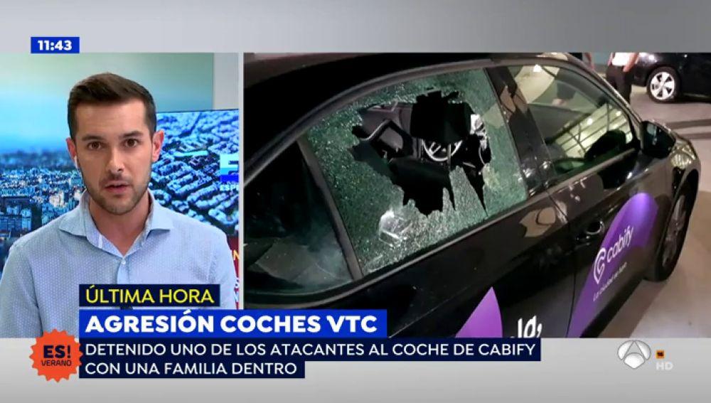 Detenido uno de los atacantes a un coche de 'Cabify' con una familia dentro en Barcelona